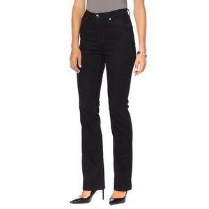 NWT DG2 Classic Stretch Boot Cut Jeans 14 Black